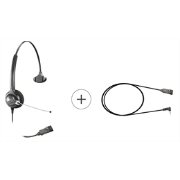 Kit Headset - Epko Compact QD + Cabo QD Mobile