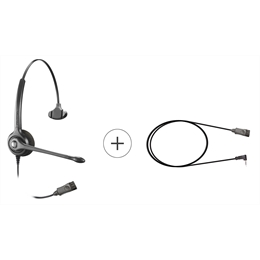 Kit Headset - Epko Noise Cancelling QD + Cabo QD Mobile