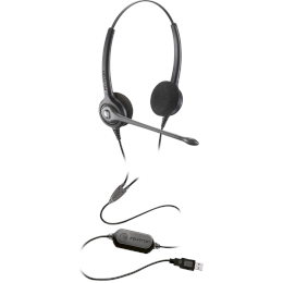 Headset USB - Epko Noise Cancelling VoIP Slim Biauricular